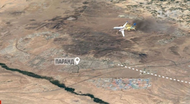 Опубликовано новое видео авиакатастрофы в Иране: в самолет МАУ попали 2 ракеты