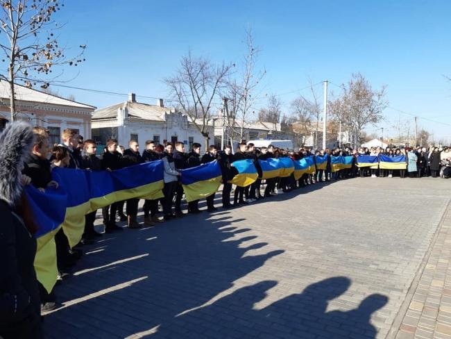 """""""Ланцюг єднання"""" в день, который объединил украинцев"""