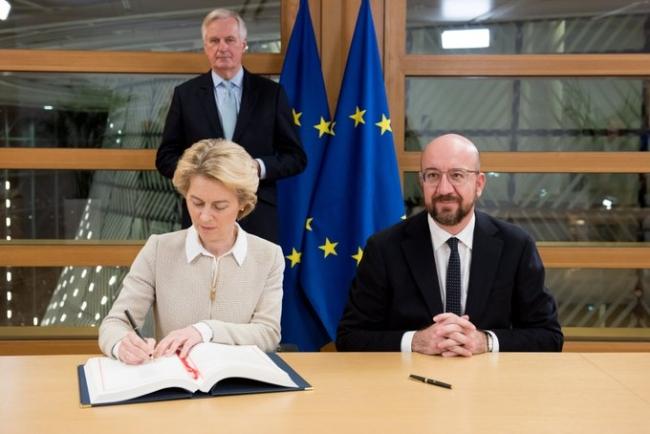 Лидеры Евросоюза подписали соглашение о Brexit