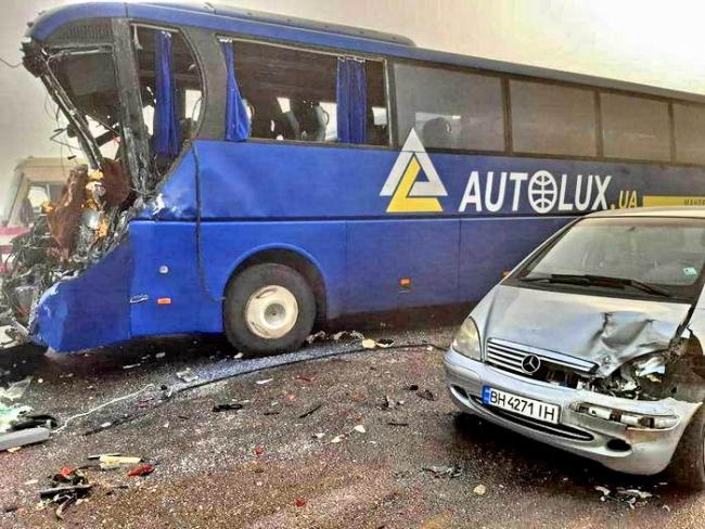 Под Одессой произошло 5 масштабных аварий
