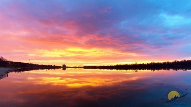 Зимний рассвет на Дунае