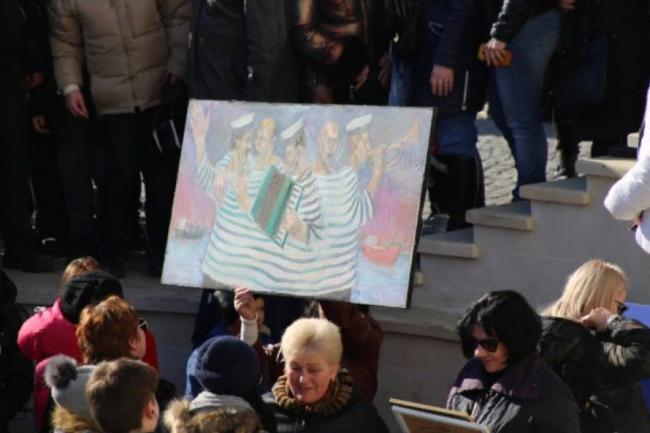 В Одессе бесплатные картины разобрали еще до начала выставки