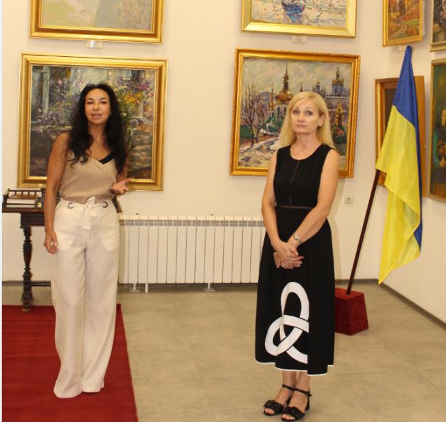 На выставке «Світе тихий, краю милий, моя Україна!».
