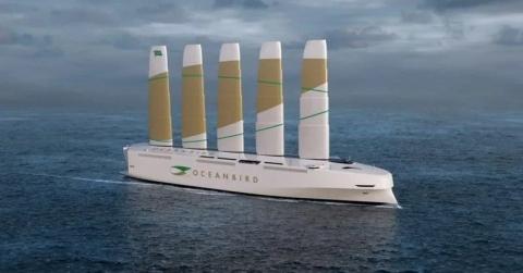 В Швеции построят экологичный грузовой корабль с парусами из металла и композита