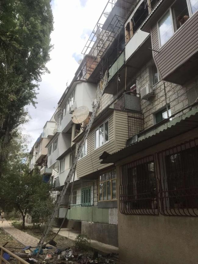 В Измаиле горел балкон в многоэтажке