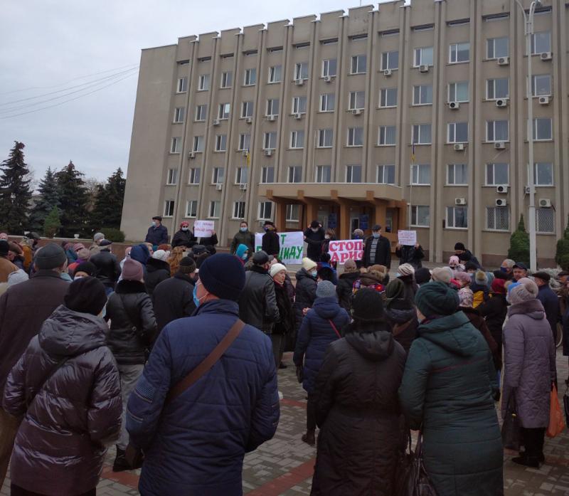 В Измаиле протестовали против повышения тарифов