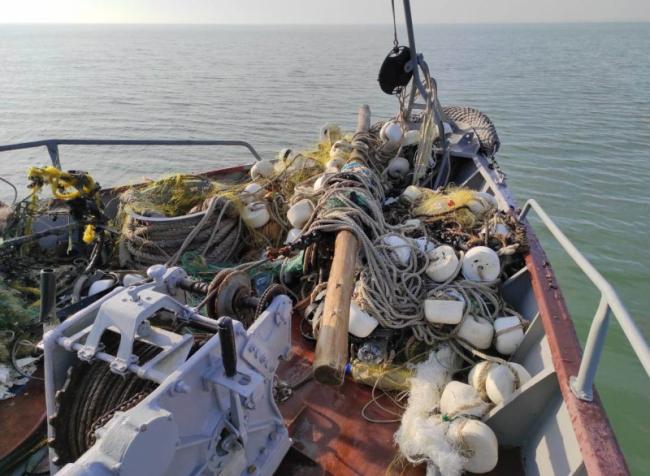 Підрозділи Морської охорони під час патрулювання виявили браконьєрські знаряддя, з яких врятували морських бранців
