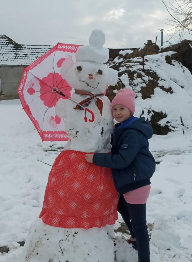 Снежная подружка, которую вылепила сама!