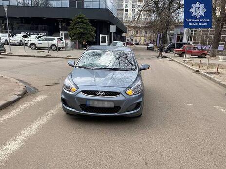 В Одессе патрульные задержали водителя, который сбил троих пешеходов