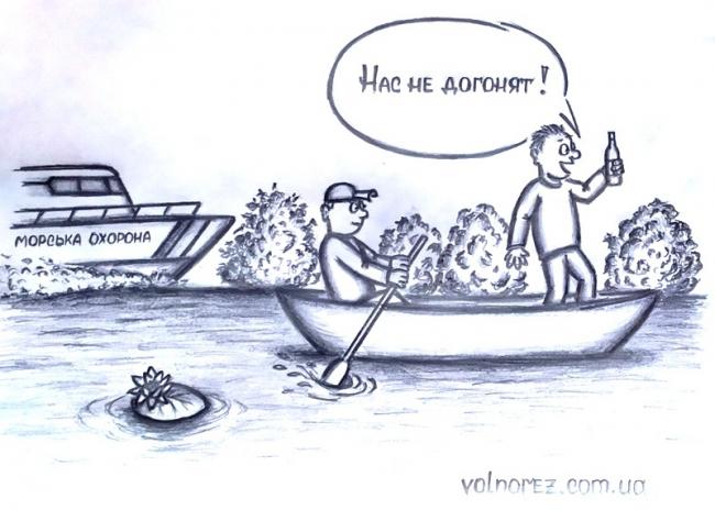 В Одесской области пьяные рыбаки пытались уйти от погони
