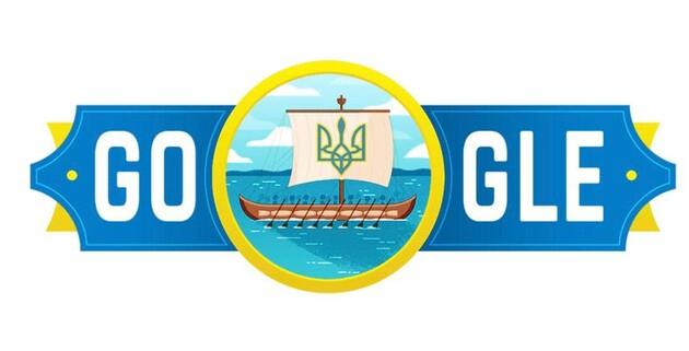Дудлом Google ко Дню Независимости Украины стала казацкая чайка
