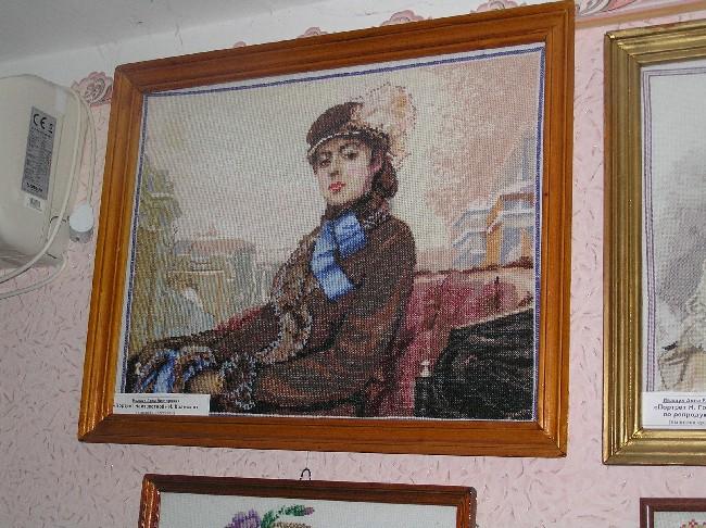 Над портретом «Неизвестная»